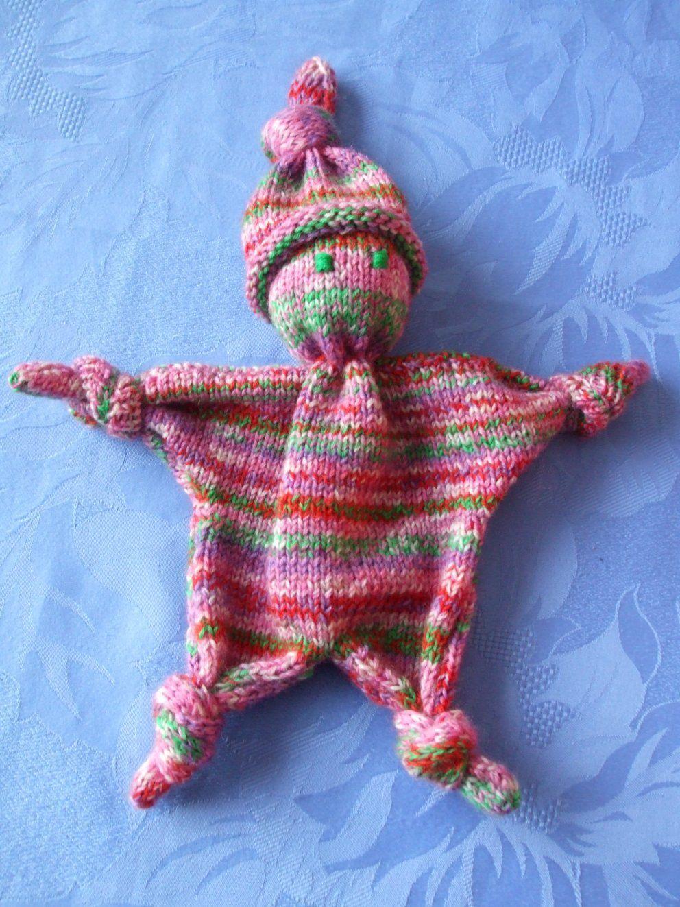 tricoter un doudou simple